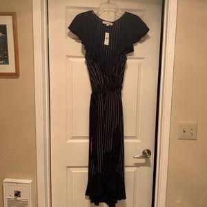 Ann Taylor Loft Faux Wrap Midi Dress